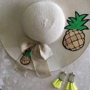 🍍 SEQUIN PINEAPPLE SUNHAT